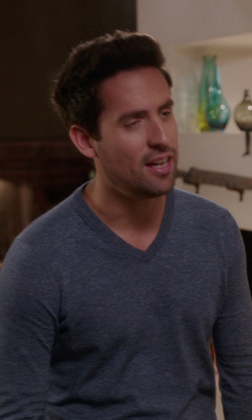 Ed Weeks with Polo Ralph Lauren V-Neck Sweater in The Mindy Project