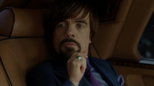 Peter Dinklage with Macy's Diamond Square Ring in The Boss