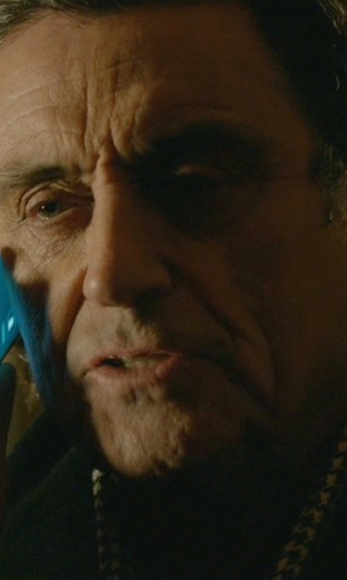 Ian McShane with Haider Ackermann Houndstooth Scarf in John Wick