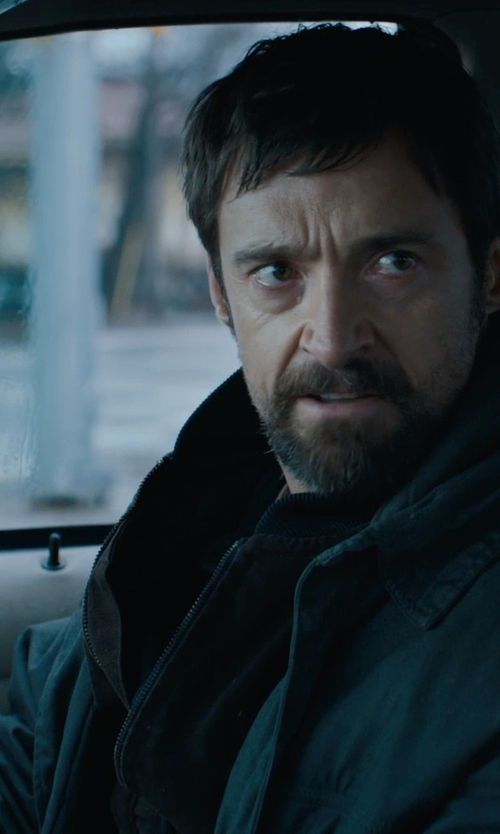 Hugh Jackman with Rainfoil Parka Jacket in Prisoners