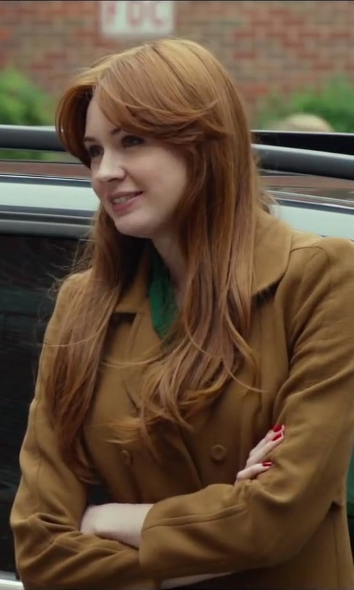 Karen Gillan with Burberry MID-LENGTH WOOL CASHMERE TRENCH COAT in Oculus