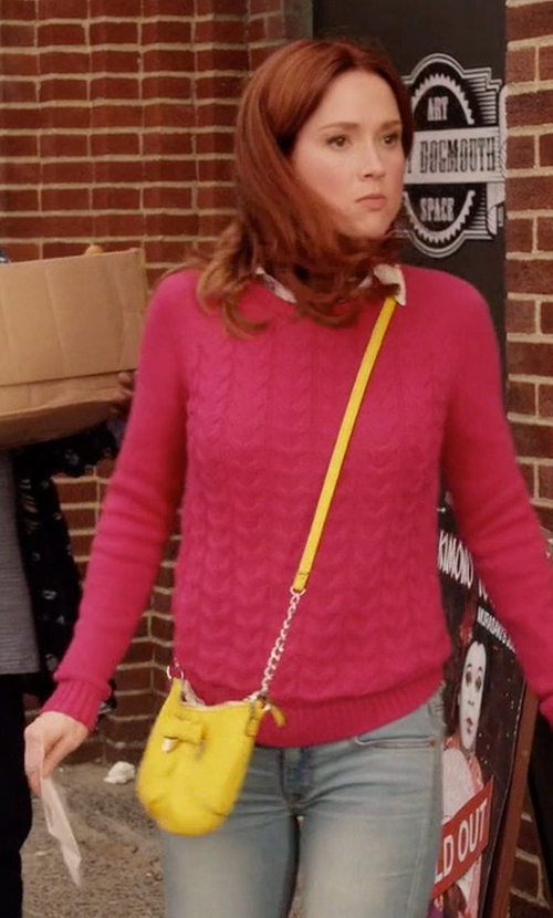 Ellie Kemper with Michael Kors Kiera Saffiano Crossbody Bag in Unbreakable Kimmy Schmidt