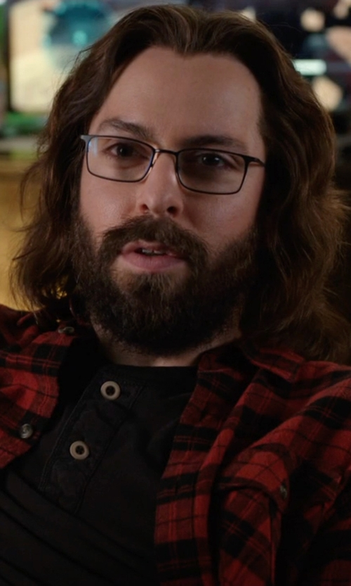 Martin Starr with John Varvatos V 147 Eyeglasses in Silicon Valley