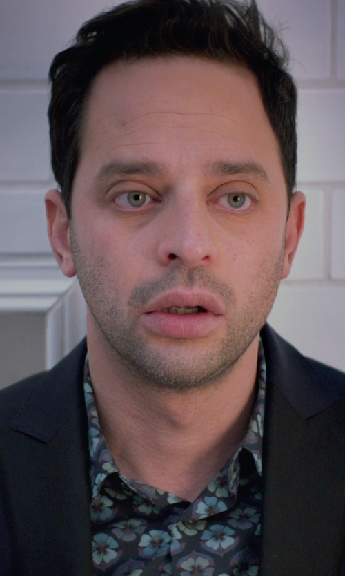 Nick Kroll with Express Color Block Tuxedo Jacket in Adult Beginners