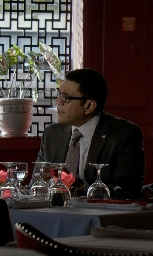 Harry Lennix with Ralph Lauren Polka-Dot Narrow Tie in The Blacklist