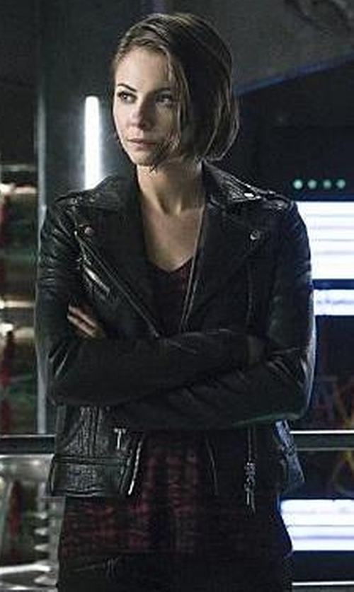 Willa Holland with Ella Moss Wonderlust Faux Leather Strap Tank Top in Arrow