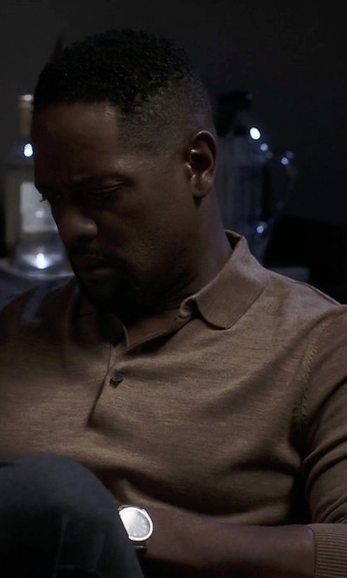 Blair Underwood with Michael Kors Merino Wool Polo Shirt in Quantico