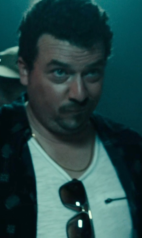 Danny McBride with Truth, Substance & Common Sense Chambray Zip Pocket Tee in Rock The Kasbah