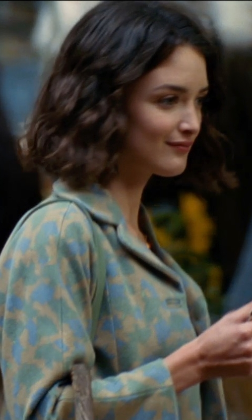 Charlotte Le Bon with Versace 'Liberty' Floral Jacket in The Hundred-Foot Journey
