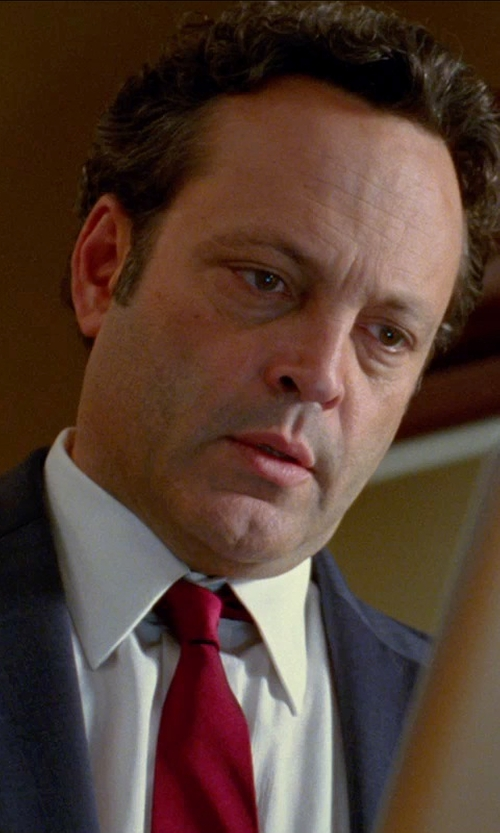 Vince Vaughn with Thomas Pink Solid Poplin Dress Shirt in Unfinished Business