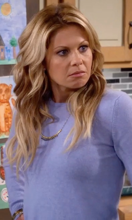 Candace Cameron Bure with Eileen Fisher Long-Sleeve Ultrafine Merino Top in Fuller House