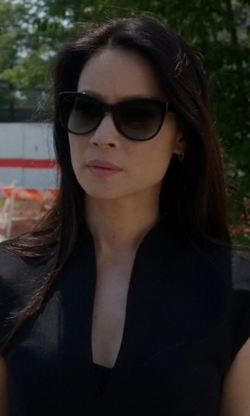 Lucy Liu with Jason Wu Brigitte Sunglasses in Elementary