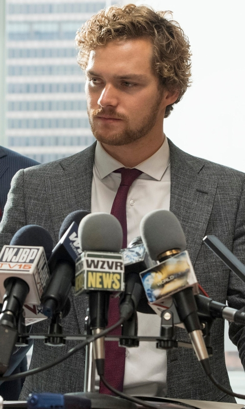 Finn Jones with Prada Silk Necktie in Marvel's Iron Fist