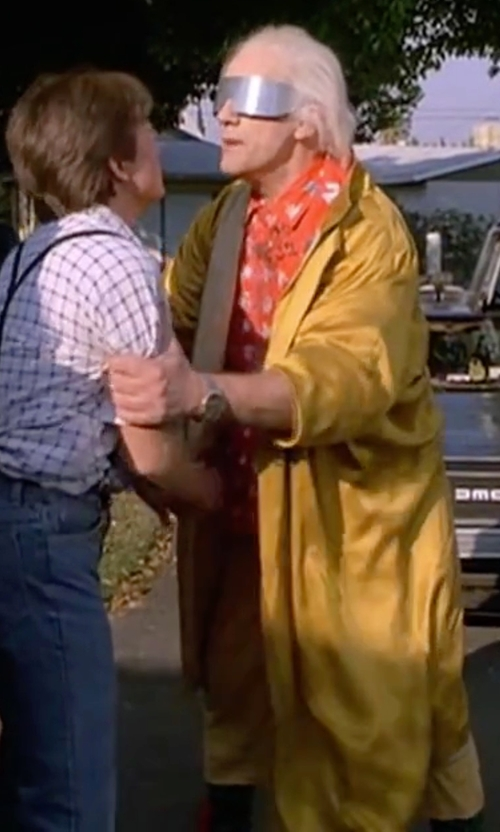 Christopher Lloyd with Outback Trading Co. Pak-A-Roo Duster Coat in Back To The Future Part II