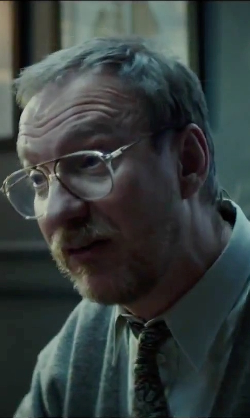 David Thewlis with Ermenegildo Zegna 'Quindici' Paisley Print Silk Tie in Regression