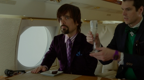 Peter Dinklage with Giorgio Armani Velvet Blazer in The Boss