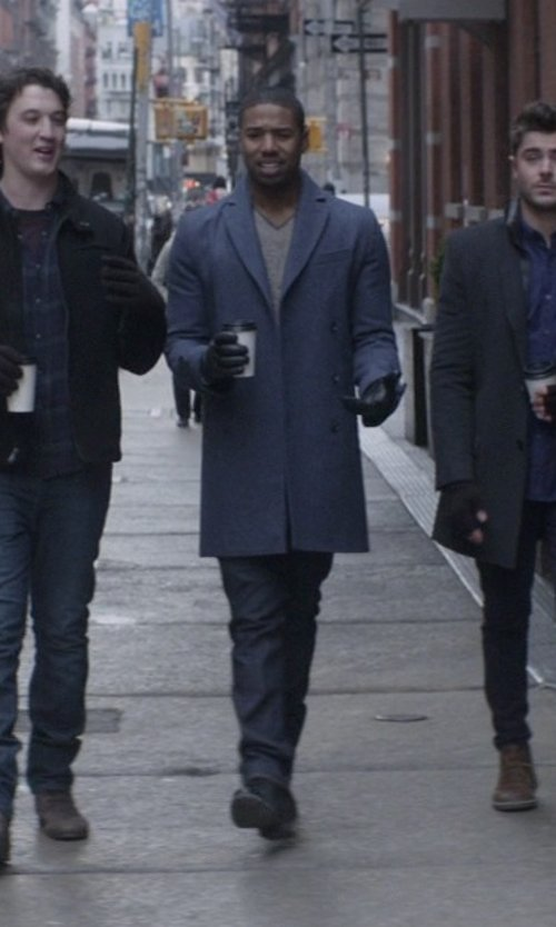 Michael B. Jordan with Andrew Marc Parkchester Suede Chukka Boots in That Awkward Moment