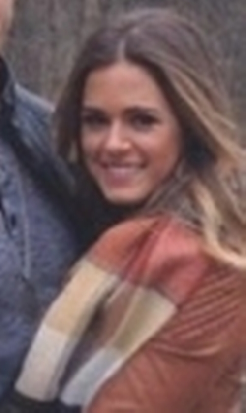 JoJo Fletcher with BP. 'Heritage Plaid' Scarf in The Bachelorette
