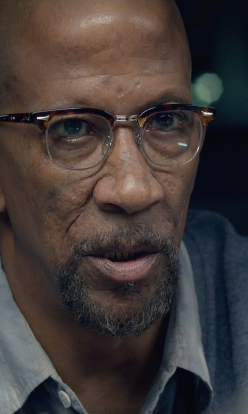 Reg E. Cathey with Jack Spade Trim Fit Plaid Poplin Sport Shirt in Fantastic Four