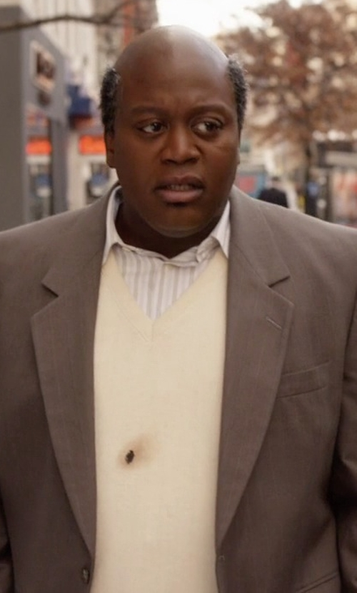 Tituss Burgess with Devon & Jones Men's V-Neck Sweater Vest in Unbreakable Kimmy Schmidt