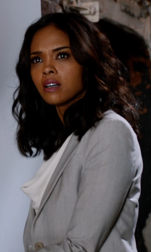 Sharon Leal with Theory Women's Selata Urban Blazer in Addicted