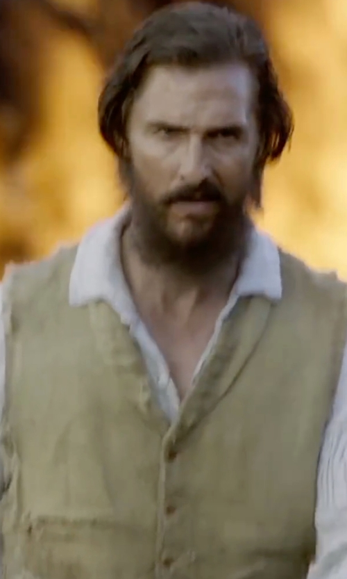 Matthew McConaughey with Scully Cotton Canvas Vest in Free State of Jones