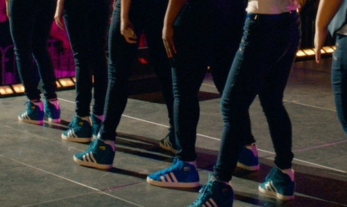 Hana Mae Lee with Adidas Blue Suede Shoes in Pitch Perfect 2