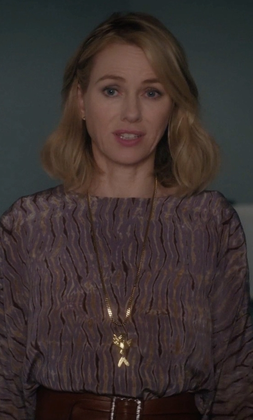 Naomi Watts with Lanvin Crystal-Embellished Swan Necklace in Gypsy