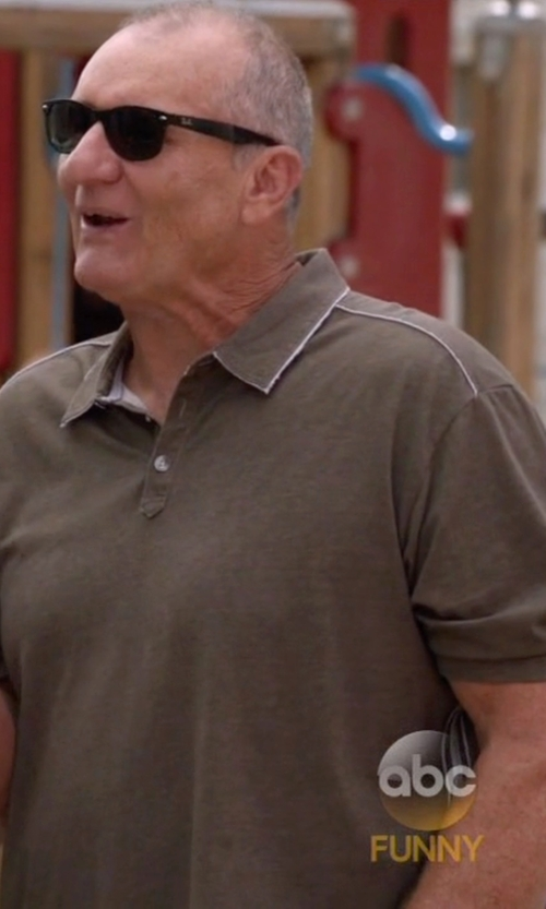 Ed O'Neill with Tommy Bahama Tonal Stripe Polo Shirt in Modern Family