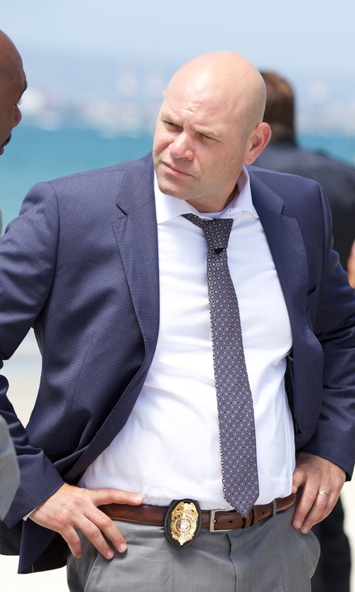 Domenick Lombardozzi with Tommy Hilfiger Micro-Check Sportcoat in Rosewood
