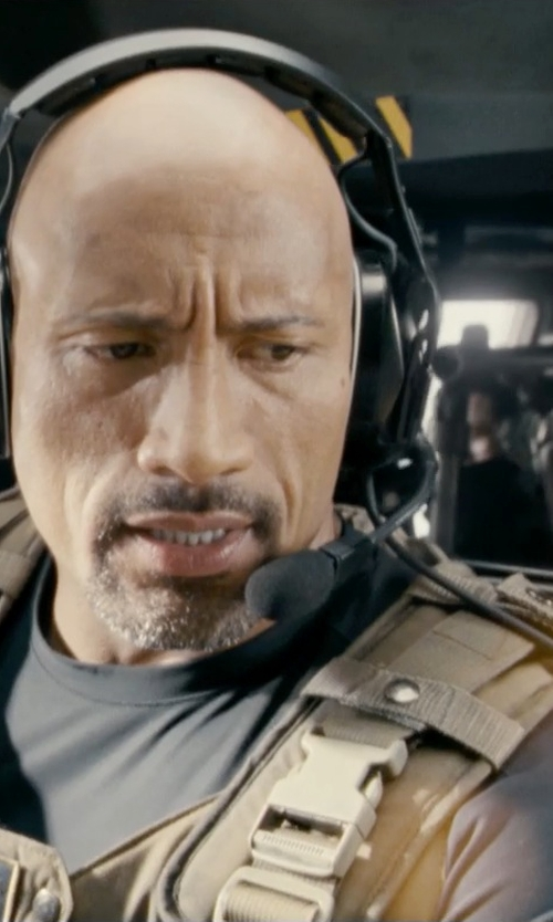 Dwayne Johnson with Sennheiser HME 110 Aviation Headset in Fast & Furious 6
