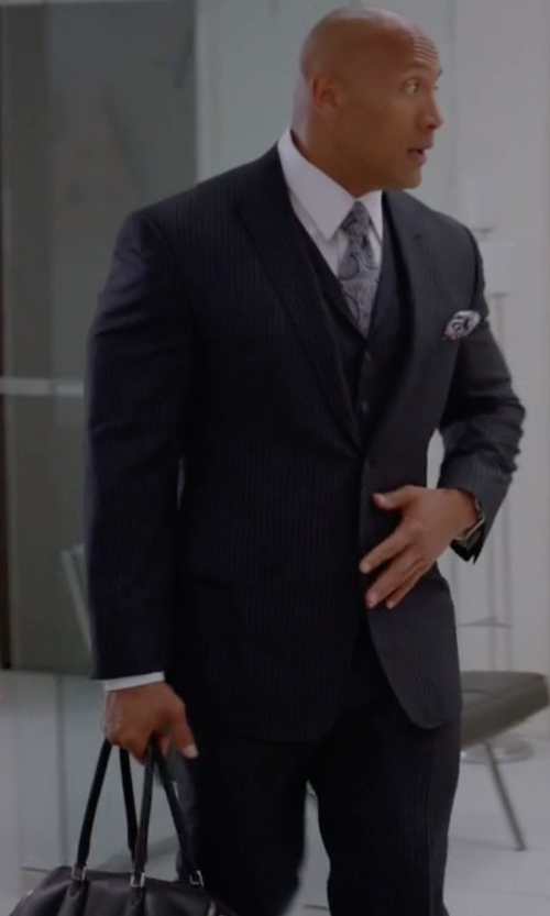 Dwayne Johnson with Fendi Spring Collection 2015 Duffel Bag in Ballers