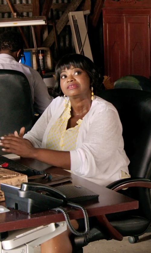 Octavia Spencer with Just Cavalli Just Queen Golden Earrings in Black or White