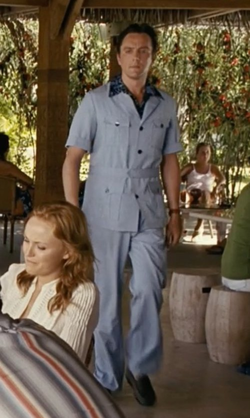 Peter Serafinowicz with Haggar Men's LK Life Khaki Lightweight Slim Fit Flat Front Chino Pant in Couple's Retreat