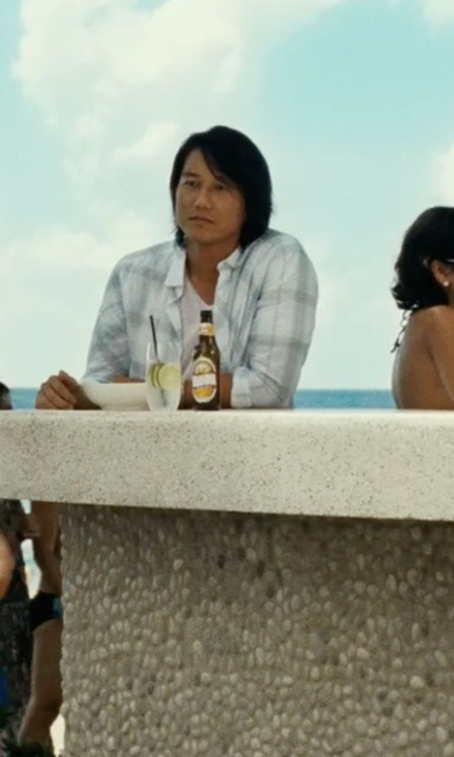 Sung Kang with Boss Hugo Boss 'Dredosos' V-Neck T-Shirt in Fast Five