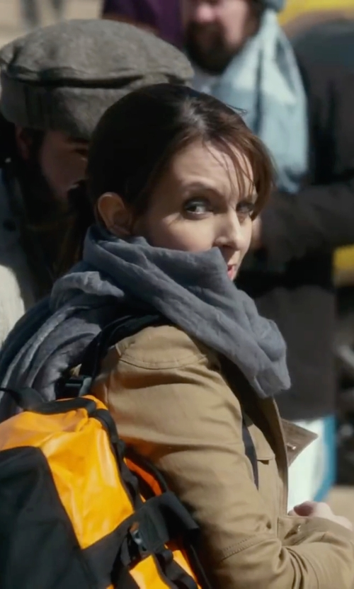 Tina Fey with Blanc Noir Slub Cotton Utility Jacket in Whiskey Tango Foxtrot