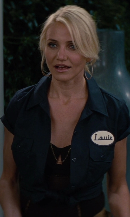 Cameron Diaz with Jennifer Fisher Long Chain Necklace in The Other Woman