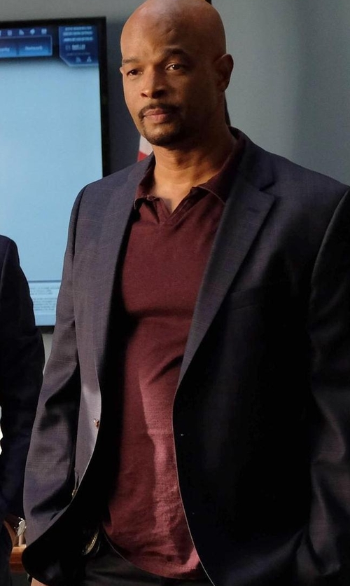 Damon Wayans with John Varvatos Star USA Peace Short-Sleeve Polo Shirt in Lethal Weapon
