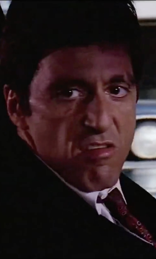 Al Pacino with Ralph Lauren Black Label Anthony Two-Button Suit in Scarface
