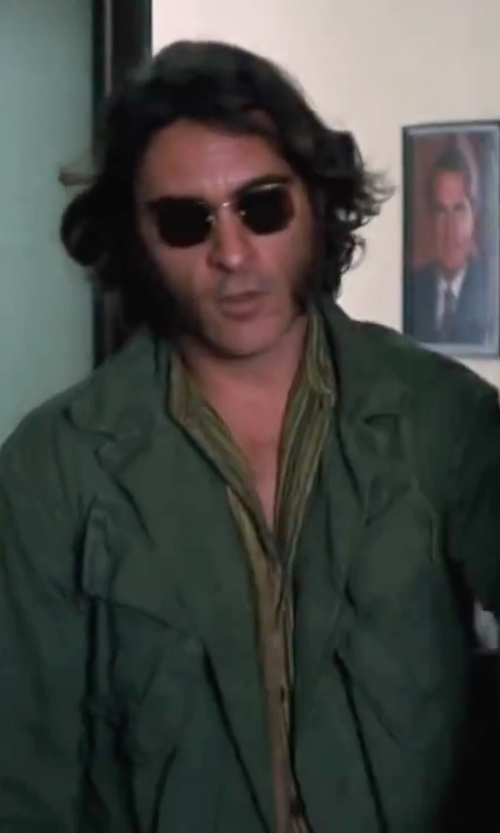 Joaquin Phoenix with A.P.C. Cotton Field Jacket in Inherent Vice