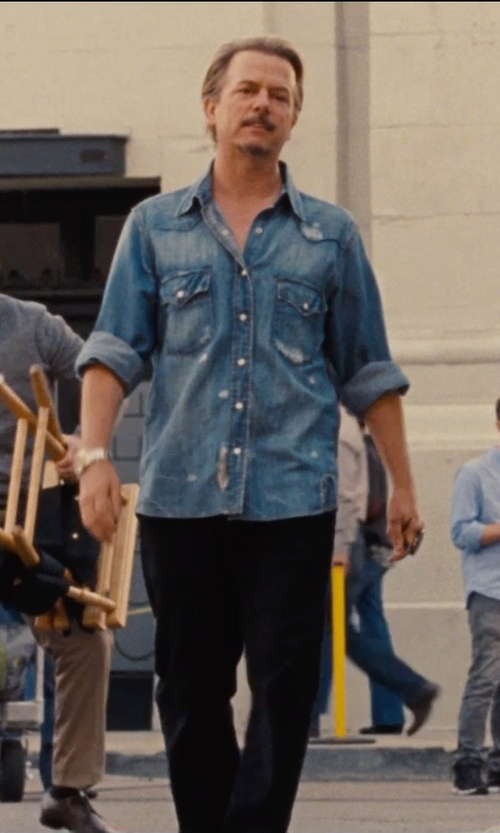 David Spade with Citizens of Humanity Classic Selvedge Denim Jacket in Entourage