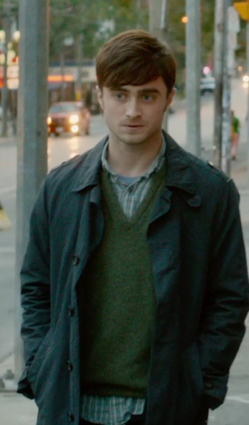 Daniel Radcliffe with Daniel Cremieux Signature Supima V-Neck Sweater Vest in What If