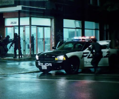 Unknown Actor with Dodge Charger in Brick Mansions
