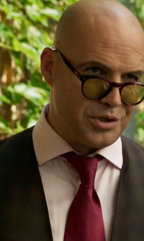Billy Zane with Thomas Pink Finch Check Slim Fit Button Cuff Shirt in Guilt