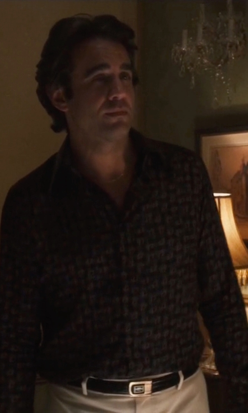 Bobby Cannavale with Slate & Stone Lucas Slim Fit Check Sport Shirt in Vinyl