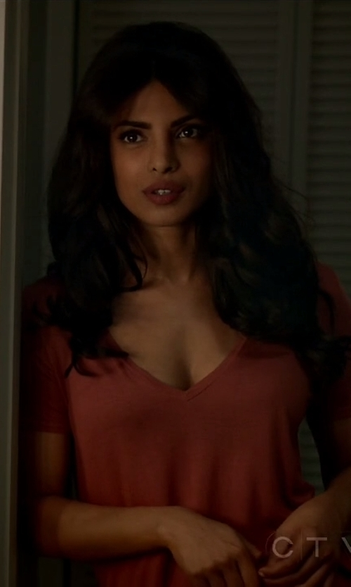 Priyanka Chopra with Aeo Soft & Sexy Favorite T-Shirt in Quantico