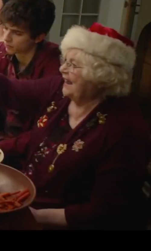 June Squibb with Ellen Tracy Dropped-Waist Dress in Love the Coopers