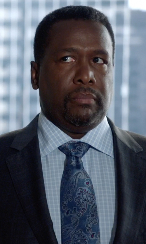 Wendell Pierce with Ermenegildo Zegna Woven Airbrush Tonal Paisley Tie in Suits