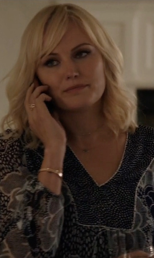 Malin Akerman with Stella Forest Long Sleeve Floral Blouse in Billions