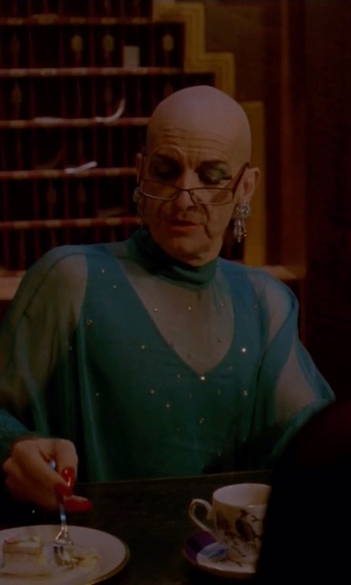 Denis O'Hare with Nasty Gal Katarina Mesh Blouse in American Horror Story